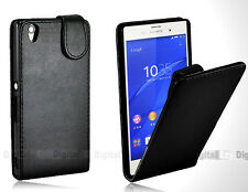BLACK FLIP Premium Leather Case Cover For SONY ERICSSON XPERIA Z3