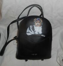 Biewer Yorkshire Terrier Yorkie dog Hand Painted Backpack Purse for Women