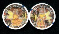 $1 Las Vegas Four Queens Autumn Equinox Casino Chip - Uncirculated