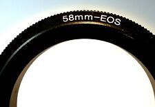 58mm Macro Close-Up Reverse Lens Adapter Ring For Canon EOS EF mount Cameras T6i