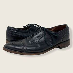 Allen Edmonds Made in USA Black Leather 6115 Strand Perforated Shoes Size 12