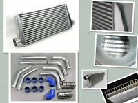 "UNIVERSAL 3"" INCH 76mm Intercooler Piping pipe Kit & 600x300x76mm Intercooler"