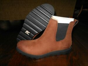 SOREL AINSLEY CHELSEA Waterproof Leather Boots Size 9 US 40 EUR Burro