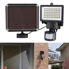Garden Solar Motion Sensor Floodlight 60 LED Lamp PIR Detector Security Light
