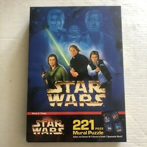 Star Wars 1997 221 Piece Mural Puzzle Scene 4: Trilogy 4775-4