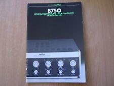 Studer Revox B750 Bedienungsanleitun Operating instructions Mode d`emploi
