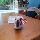 Ty Beanie Babies Spike The Rhino  New Condition With Tags - 1996 DOB 13TH AUGUST