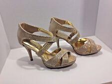 Women's VANNESSA High Heels Sandals Open Toe Ankle Strap  Shoes Size 8 1/2