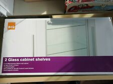 2 x Shelves B&Q For - HOME Glass Display Cabinet Pack W462 x D 247 x H6mm