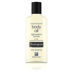 Neutrogena Cosmetics Body Oil Of 1 oz. Bottle, Free Shipping Worldwide