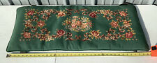 Antique Needlepoint Tapestry Piano Window Seat Bench Top Lid Cover CrossStitch