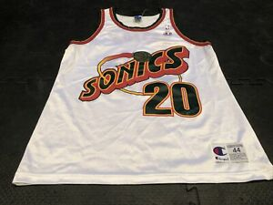 Men's Gary Payton Seattle Sonics Authentic Champion Jersey Size 44