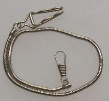 Silver Tone Belt Slide Watch Chain