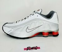 Nike Shox R4 Metallic Silver Comet Red 2018 Shoes BV1111-100 New Men's Size 9.5