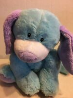 "GANZ Webkinz Jr Blue Puppy  12"" Plush Stuffed Animal"