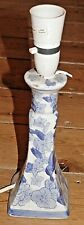 Blue floral china table lamp