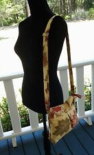Gold/Rust  Cross Body/shoulder bag with  zip - Hand made - Free Shipping (200)