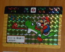 MARIO BROS BANPRESTO CARDDASS CARD PRISM CARTE 2 NITENDO MADE IN JAPAN 1991 **