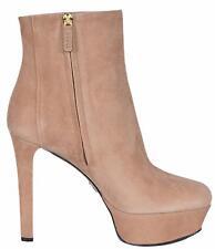 NEW Gucci Women's 388464 Leila Camelia Suede Platform Ankle Boots Shoes 39 9