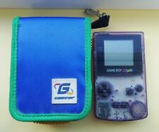 Nintendo Game Boy Color Handheld Console CGB-001 - Atomic Clear Purple + case