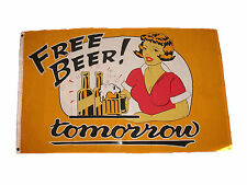 3'x5' Free Beer Tomorrow Flag College Party Games Drinks Outdoor Indoor Fun 3x5