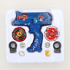 4D Beyblade Rapidity Metal Fusion Fight Master Top Launcher Toys Set Battle Blue