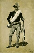 U. S. Soldier, Spanish-American War by Frederic Remington Giclee Repro Canvas