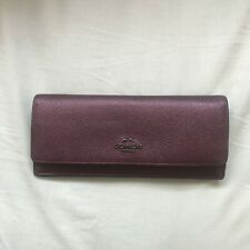 Authentic Coach Burgundy Large Slim Leather Wallet