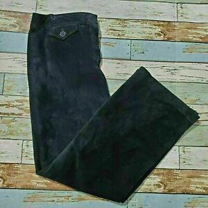 Women's Ann Taylor Loft Black Pants Sz 12 Leather