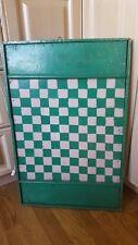 Vtg/Antique Game Board Checkerboard Folk Art primitive canada see description