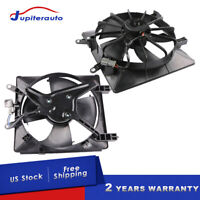 New Radiator AC Condenser Cooling Fan For 2001-2005 Honda Civic 1.7L Left+Right