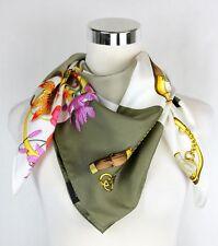 Gucci Women's Large Brown/Beige Handbag Patchwork Print Silk Scarf 394522 9879
