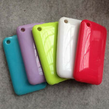 For Apple Iphone 3g 3gs Glossy Rubber Soft Case Cover