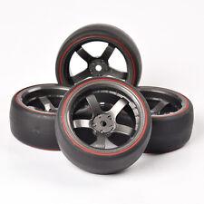 Double Color Drift Tires&Wheel Rim PP0366R/D5M For 1/10 RC On-Road Car HSP HPI