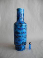 Grand keramikvase presque vase BITOSSI ITALIE ITALY poissons LONDI rimini-Blue