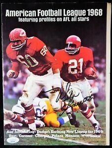 Mike Garrett Chiefs Signed American Football League 1968 Magazine JSA Authentic