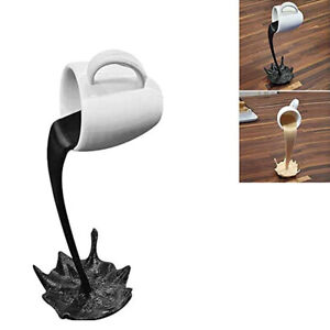 Creative Cup Sculpture Pouring Liquid Coffee Mug Art Decor Gift | home | kitchen