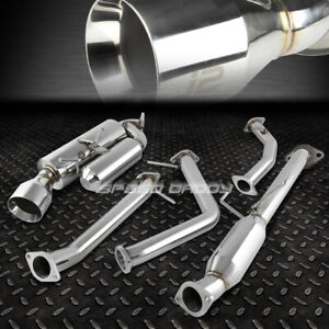 """FOR 11-16 SCION TC J2 HI-POWER 4.5"""" ROLLED MUFFLER TIP CATBACK EXHAUST SYSTEM"""