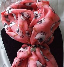 Sheep Scarf Watermelon + Sheep Charm Scarf Ring Gift Set in Gift Bag