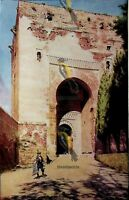 Granada, Portal of the Alhambra, Andalusia, Spain, Modern Reproduction