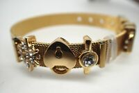 18ct 18K Yellow gold Solid Diamond Star Padlock  Mesh women Men bracelet 8' 20cm