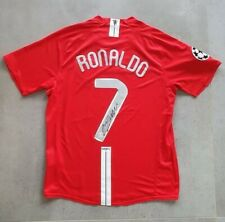 More details for cristiano ronaldo signed 2008 final shirt / jersey with coa
