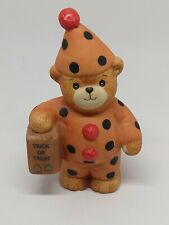 Vintage Lucy & Me Bear-Enesco-1985 - Clown With Trick Or Treat Bag -K263