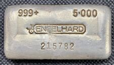 ENGELHARD • 5 oz Silver Bar .999+ Fine • ULTRA RARE • 5th Series Only 250 Minted