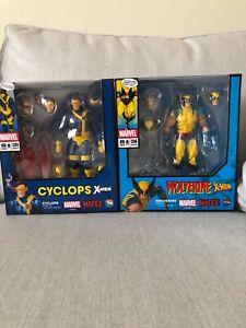 Marvel Medicom Mafex Wolverine No.096 and Cyclops No.099 action figures lot