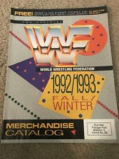 1992 WWF Merchandise Catalog Shirt Poster HULK HOGAN ULTIMATE WARRIOR RIC FLAIR