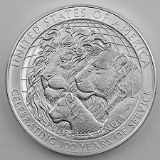 2017-P Lions Club International Uncirculated Silver Dollar with Mint Case & COA