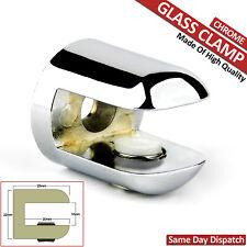 1x ADJUSTABLE GLASS CLAMP SHELF SUPPORT CHROME BRACKETS MIRROR RACK 6-10 mm NEW