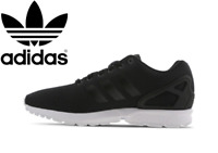 ⚫⚫ 2020 Adidas Originals ZX Flux ® Trainer Men's (UK Sizes 6 - 12) Black-White