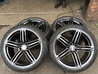 "Genuine Audi 20"" A5 S5 RS5 A7 S7 RS7 A6 Alloy Wheels Dark Edition x4  Q5 Segment"